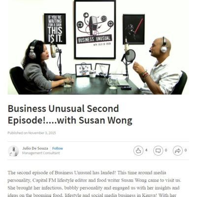 Business Unusual Second Episode!….with Susan Wong