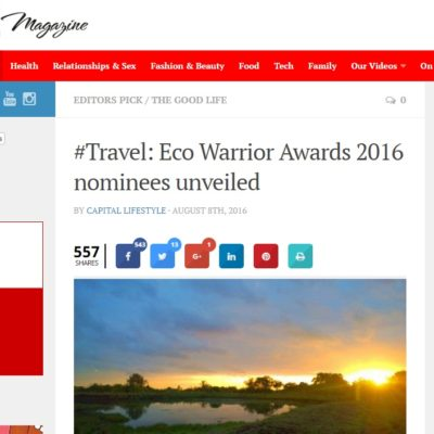 Travel: Eco Warrior Awards 2016 nominees unveiled