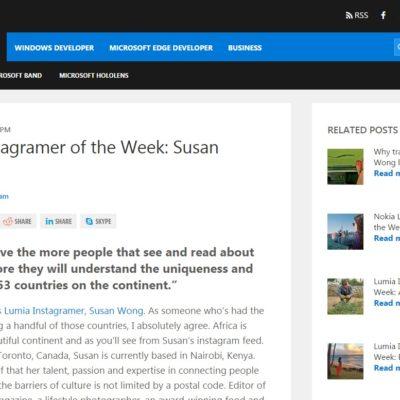 Lumia Instagramer of the Week: Susan Wong
